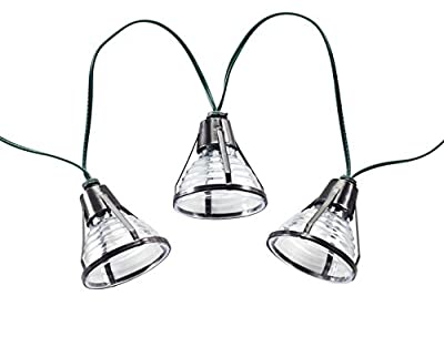 Smart Solar 3759WR20 Bente 20-Light LED Solar String Lights, Black, Includes Rechargeable Ni-MH Battery For Up To 8 Hours Of Illumination Each Night