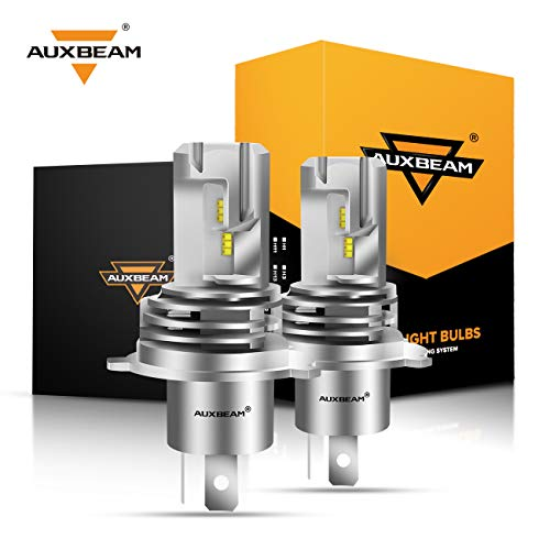 Auxbeam H4 9003 Led Headlight Bulbs F-M3 Series 50W 5000lm 6500K ZES LED Chip Hi/Lo Beam Headlight Conversion kit