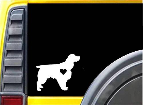 (Springer Spaniel Little Heart K769 6 inch Sticker dog)
