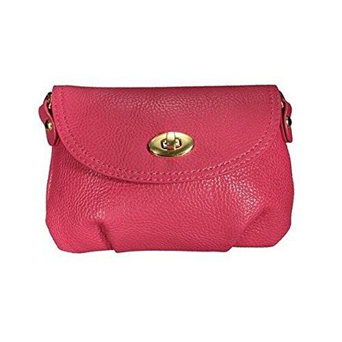 TOOGOO(R)Bolso de senora mujer Cartera Bolsa bolso de cuerpo cruzado Bolsas de mensajero hombro Roseo