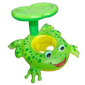 GXF Equipo de baño para niños Anillo de flotador Sombrilla ...