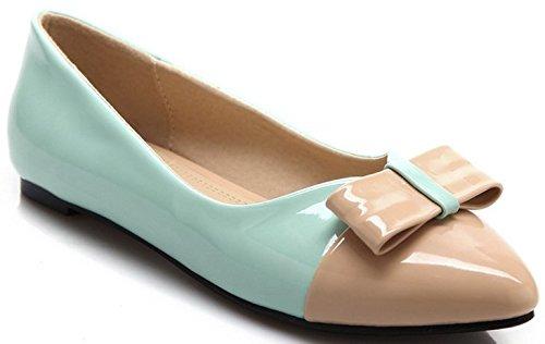 Laruise Women's Korean bow bow Flat Shoes Blue ujR8evfeMS