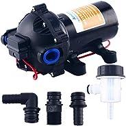 Amarine-made 12v Water Pressure Diaphragm Pump 18.9 L/min 5.0 Gpm 60 Psi - Caravan/rv/Boat/Marine - AMDP1-050-