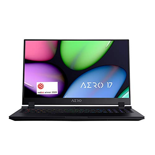[2020] Gigabyte AERO 17 KB-7US1130SH Thin and Light Laptop, 17.3″ Thin Bezel 144Hz FHD Anti-Glare Display, i7-10875H, NVIDIA GeForce RTX2060, 16GB RAM, M.2 PCIe 512GB SSD, Win 10 Home