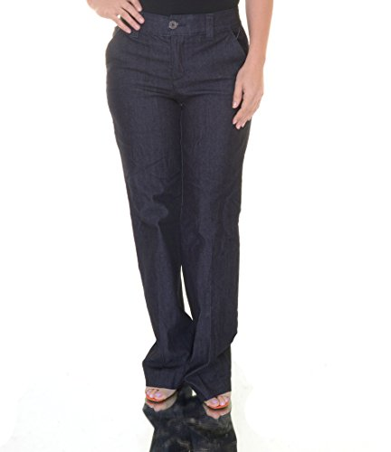 Style & Co. Tummy-Control Denim Straight-Leg Trousers (6, Rinse)