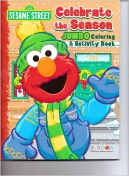 sesame street 64 pages jumbo coloring activity book celebrate the season