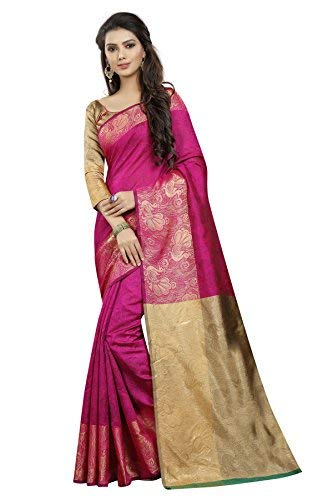 6ab7bcd76306a5 Indian beautiful women s ethnic wear saree with blouse piece(pink)   Amazon.in  Clothing   Accessories