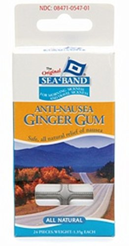 Sea-Band Anti-Nausea Ginger Gum 24 Each (Pack of 7) ()