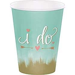 24 Mint To Be 12oz. Premium Paper Cups Bridal Shower Wedding Reception Supply