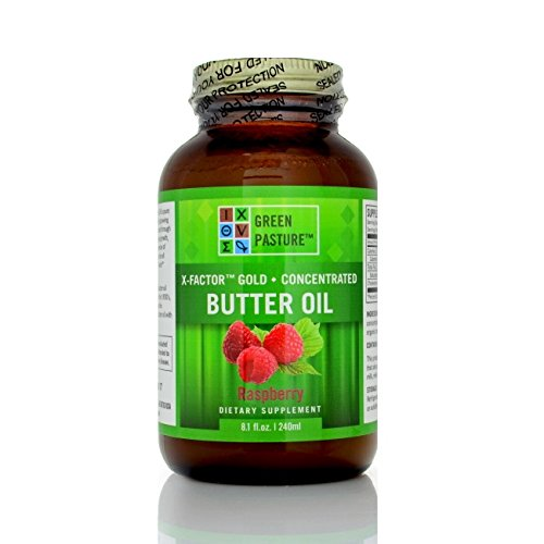 Green Pasture X-Factor High Vitamin Butter Oil, 8.1 oz/240mL - Raspberry