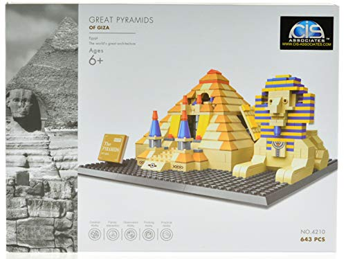 CIS-Associates 4210 Great Pyramids of Giza Building Blocks, Multicolor