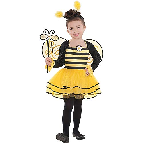 Suit Yourself Ballerina Bee Costume for Girls, Size Small, Includes a Leotard, Tutu, Wings, Headband, and More]()
