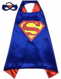 SBK Kids Superhero Superman Costume and Dress up For Kids Cape and Felt Mask