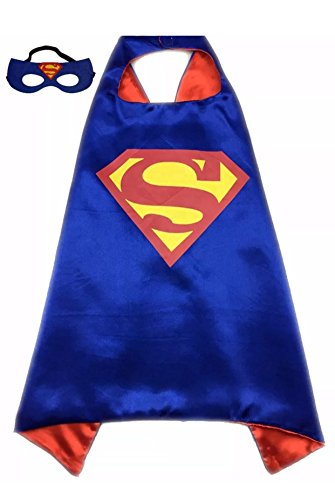 SBK Kids Superhero Superman Costume and Dress up For Kids Cape and Felt Mask
