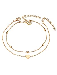 Fesciory Women Anklet Adjustable Beach Ankle Chain Gold Alloy Foot Chain Bracelet Jewelry Gift