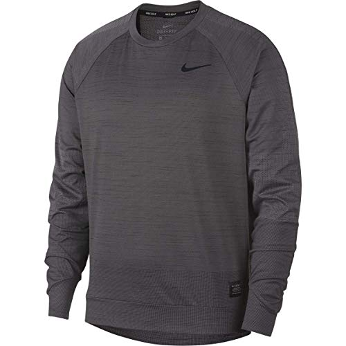 (Nike Dri-FIT Men's Long Sleeve Golf Top Pullover (Grey (036), Small))