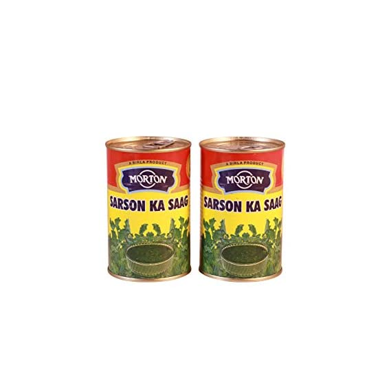 Morton Sarson Ka Saag Plain, 450 g (Pack of 2)