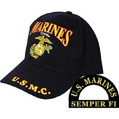 - K's Novelties Marines Marine Corps EGA U.S.M.C. Red Black Letters Embroidered Cap Hat
