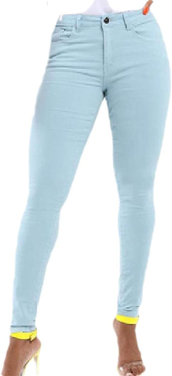 YAXINHE 女性スリムウォッシュセクシーローウエストスタイリッシュなジーンズポケット付き
