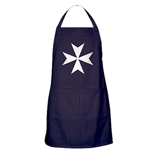CafePress - White Maltese Cross Apron (Dark) - 100% Cotton Kitchen Apron with Pockets, Perfect Grilling Apron or Baking Apron