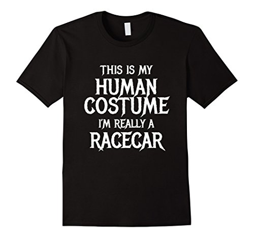 Car Toddler Race Halloween Costume Driver (Mens I'm Really a Racecar Halloween Costume Shirt Easy Funny XL)