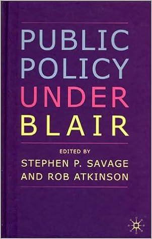 Public Policy under Blair
