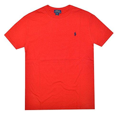 ys Crew Neck Pony Logo T-shirt (XL(18-20), Red) ()
