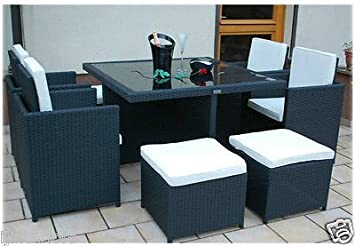 CUBE RATTAN GARDEN FURNITURE SET CHAIRS SOFA TABLE OUTDOOR PATIO ...