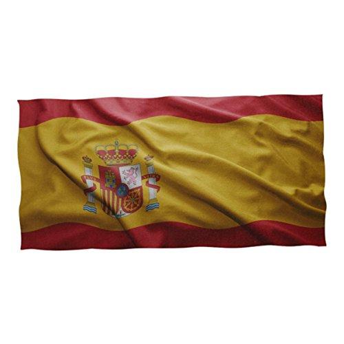 super3Dprinted Spain Flag Beach & Pool Towel 74 x 37 inch by super3Dprinted