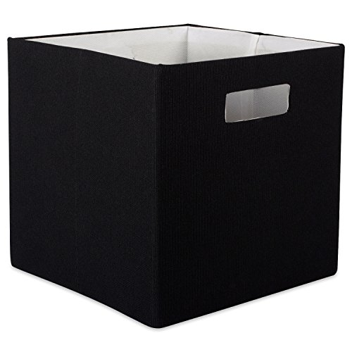 DII Hard Sided Collapsible Fabric Storage Container for Nursery, Offices, Home Organization, (13x13x13) - Solid (Hard Cube)