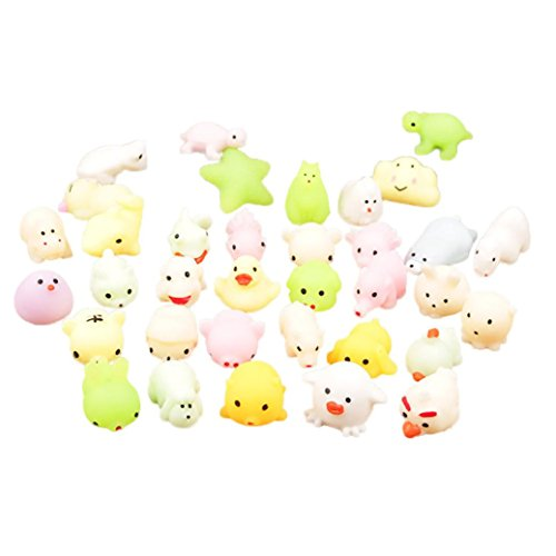 Price comparison product image Hot Sale! Clearance! Todaies Cute Luminous Mochi Squishy Cat Squeeze Healing Fun Kids Kawaii Toy Stress Reliever Decor (4cm,  1 PC)