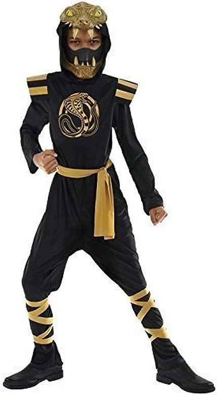 Niño Negro Y Dorado Serpiente Ninja Día Del Libro Halloween ...
