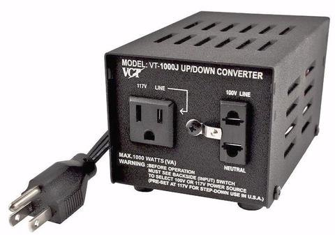 Watts Step Down Converter - VCT VT-1000J Japanese Step UP/Down Voltage Transformer Converts Japan Voltage 100 Volts to 110V or Vice Versa - 1000 Watts