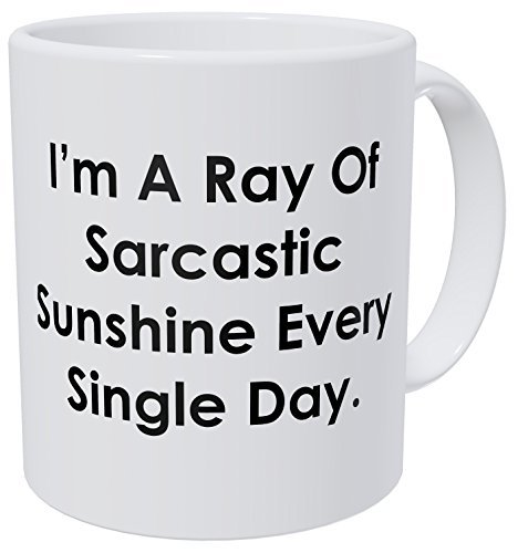 (Wampumtuk I'm A Ray Of Sarcastic Sunshine Every Single Day 11 Ounces Funny Coffee Mug )