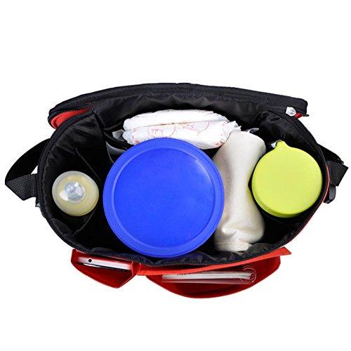 Bolsa para carrito de bebé, 3en1, organizador de pañales, cambiador portátil, bolsa térmica, incluye 6bolsillos, ajuste universal verde verde caqui