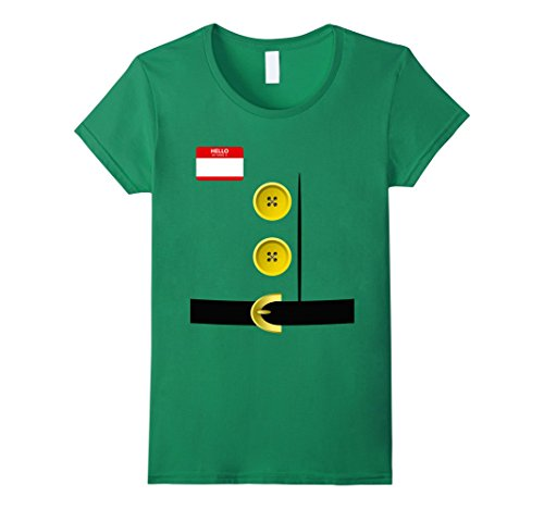 Womens Dwarf Halloween Group Costume Idea T-Shirt with Name plaque XL Kelly (College Costume Idea)