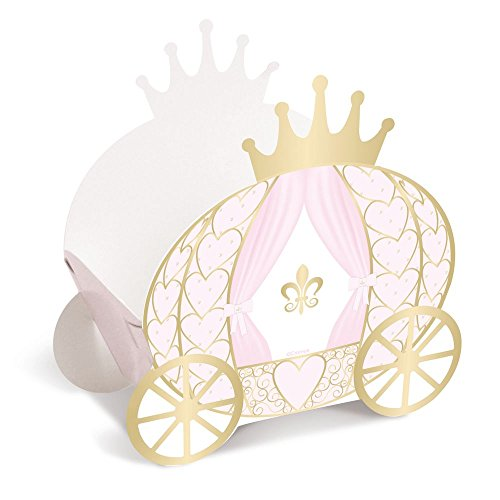 Princess Decorative Carriage Candy Box for Girls Birthday Party | Baby Shower Decoration 8 Pack by Mama & Mia Premium Party Supplies