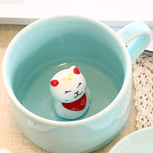 (Lucky Cat 3D Cute Cartoon Animal Ceramics Coffee Cup - World's Greatest Farter,8 OZ Coffee Mugs - Gift for Best Dad Mom Husband Wife Uncle Aunt Grandpa Grandma Ever Ceramic Mug White)