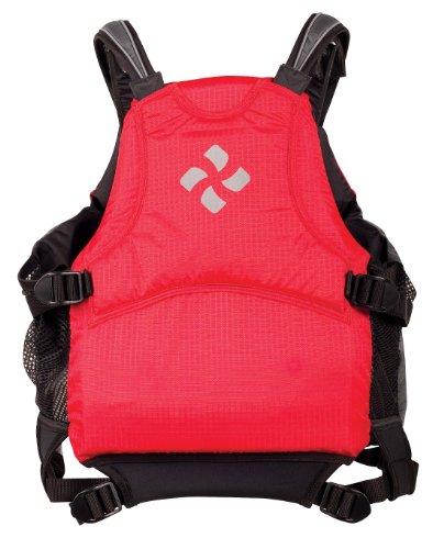 Extrasport Vortex Canoe/Kayak Rafting Personal Flotation Device/Life Jacket, Red/Charcoal, Large/X-Large