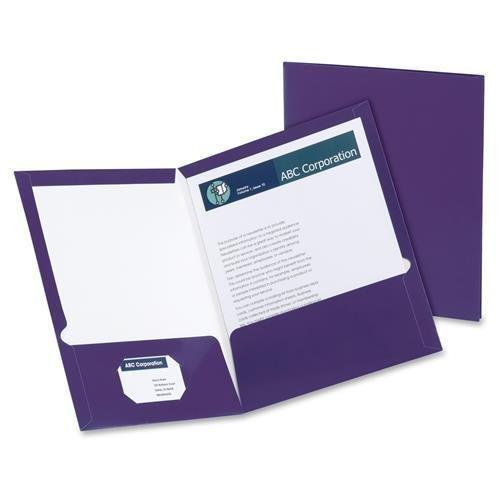 51726 Oxford Laminated Twin Pocket Folders - Letter - 8.5...