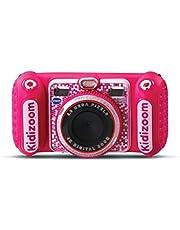 Vtech - Kidizoom Duo DX - Speelgoedcamera - Rose - Maak foto's, voeg spraakmemo's toe, speel spelletjes, maak video's en luister naar je favoriete muziek