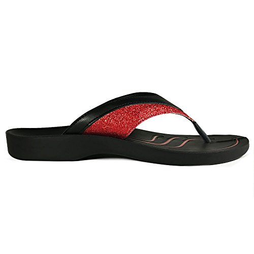 Red Thong Flip with Comfortable Sandal for Arch Support Gleamy and AEROTHOTIC Original Walk Flops Orthotic Comfort T8qwwZtU