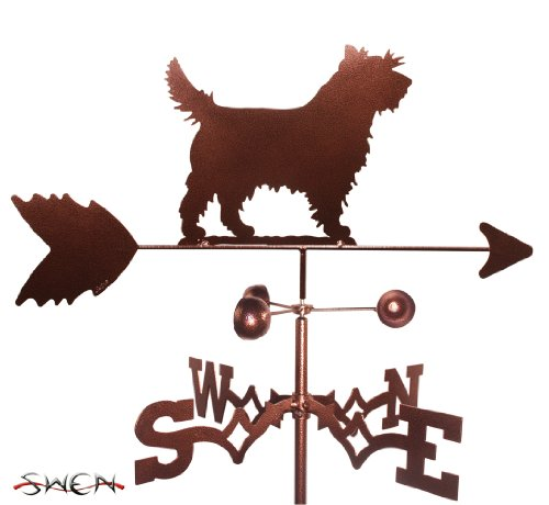 SWEN Products Hand Made Cairn Terrier Dog Garden Stake Weathervane ~New~ ()