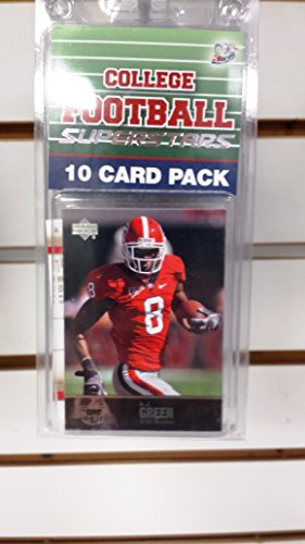 (10) Ten Card Pack College Football Georgia Bulldog Superstar Starter Kit
