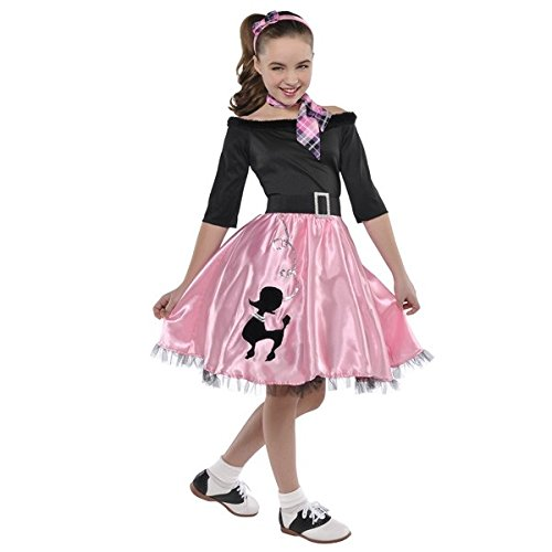 [Miss Sock Hop Costume - Toddler] (Poodle Skirt Set)