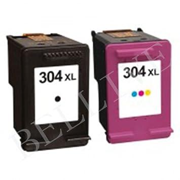 Juego de 2 Cartuchos regenerados Compatible con HP 304 X L ...
