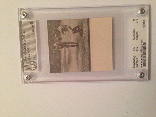 1934 Babe Ruth Quacker Oats Baseball Card