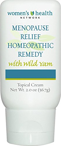 Menopause Relief Homeopathic Remedy With Wild Yam By Womens Health Network   A Unique Blend Of 8 Homeopathic Ingredients For Menopause Relief In A Light  Easy To Apply Cream