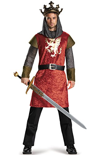 Disguise Men's King Classic Adult Costume, Multi, (King Arthur Adult Mens Costumes)