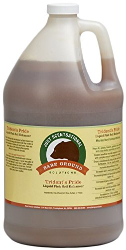 Organic Fertilizers Soil (Just Scentsational TP-128G Trident's Pride Organic Liquid Fish Hydroponic Soil Fertilizer, 128 oz (1 Gallon))